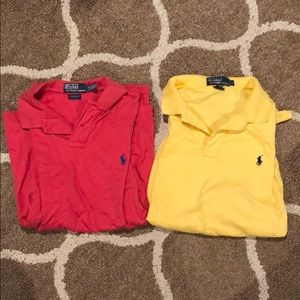 Two large men Ralph Lauren polo shirts